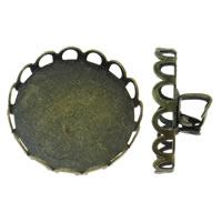Eisen Broschen Zubehöre, antike Bronzefarbe plattiert, verschiedene Größen vorhanden, frei von Nickel, Blei & Kadmium, Innendurchmesser:ca. 18.5,20.5,26,29.5mm, 100PCs/Tasche, verkauft von Tasche
