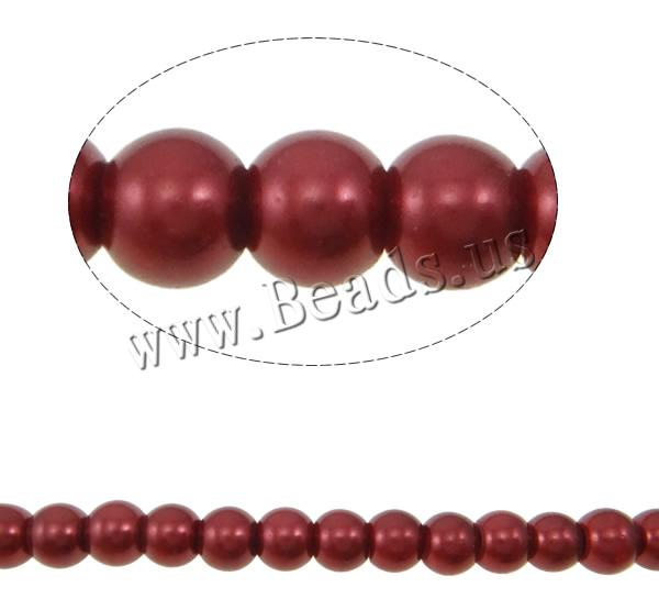 Stoving Varnish Glass Beads Glass Pearl Round colors choice 8mm Hole:Approx 1mm Length:Approx 32.2 Inch 10Strands/Bag Sold Bag