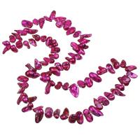 Natürliche kultivierte Süßwasserperlen Pullover Halskette, Keishi, Fuchsia, 4-21mm, Länge:ca. 26 ZollInch, 5SträngeStrang/Tasche, verkauft von Tasche