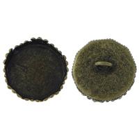 Domdeckel Fläschchen, Messing, flache Runde, antike Bronzefarbe plattiert, frei von Nickel, Blei & Kadmium, 16x9mm, Bohrung:ca. 2mm, Innendurchmesser:ca. 15mm, 500PCs/Menge, verkauft von Menge
