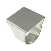 Messing einstellbare Fingerringe, Platinfarbe platiniert, frei von Blei & Kadmium, 20mm, Bohrung:ca. 4x10mm, Größe:8, 200PCs/Menge, verkauft von Menge
