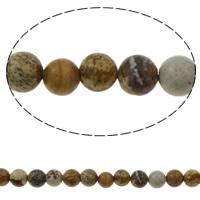 Bild Jaspis Perlen, rund, verschiedene Größen vorhanden, farbenfroh, Bohrung:ca. 1mm, ca. 66PCs/Strang, verkauft per ca. 15 ZollInch Strang