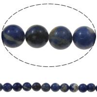 Sodalith Perlen, Sosalith, rund, 10mm, Bohrung:ca. 1.5mm, ca. 39PCs/Strang, verkauft per ca. 15 ZollInch Strang