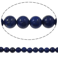 Synthetischer Lapislazuli Perlen, rund, 8mm, Bohrung:ca. 1.5mm, ca. 48PCs/Strang, verkauft per ca. 15 ZollInch Strang