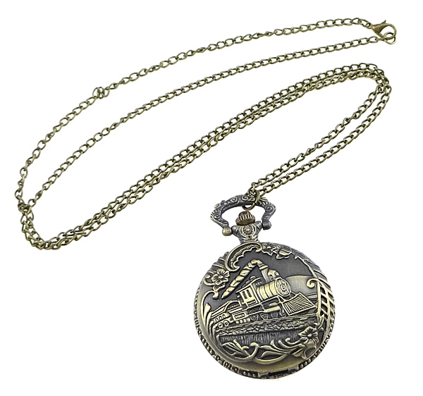 Buy Fashion Watch Necklace Zinc Alloy Glass plated twist oval chain nickel lead & cadmium free 45mm Length:Approx 32.1 Inch 1 Sold Lot