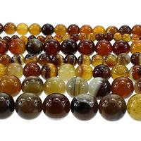 Madagaskar Achat Perle, rund, verschiedene Größen vorhanden, Kaffeefarbe, Länge:ca. 15 ZollInch, verkauft von Menge