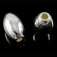 925 Sterling Silber Perlen, oval, poliert, verschiedene Größen vorhanden, verkauft von Menge