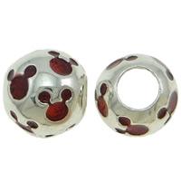 Zink Legierung Europa Perlen, Zinklegierung, Trommel, Platinfarbe platiniert, ohne troll & Emaille, keine, frei von Nickel, Blei & Kadmium, 12x10mm, Bohrung:ca. 5mm, verkauft von PC