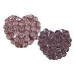 Harz Perlen Strass, Herz, mit Strass, keine, 13x11mm, Bohrung:ca. 2mm, 100PCs/Menge, verkauft von Menge