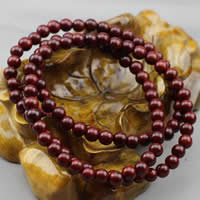 108 Mala Perlen, Rosenholz, mit elastische Nylonschnur, rund, unterschiedliche Länge der Wahl & buddhistischer Schmuck & verschiedene Größen vorhanden & 3-Strang, verkauft von Menge