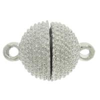 Zinklegierung Magnetverschluss, rund, Platinfarbe platiniert, verschiedene Größen vorhanden & Einzelstrang, frei von Nickel, Blei & Kadmium, Bohrung:ca. 2mm, 10PCs/Tasche, verkauft von Tasche