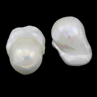 Natürliche Süßwasser, lose Perlen, kultivierte Süßwasser kernhaltige Perlen, Keishi, kein Loch, weiß, Klasse AA, 15-18mm, verkauft von PC