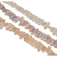 Biwa kultivierte Süßwasserperlen, Natürliche kultivierte Süßwasserperlen, natürlich, keine, Klasse AA, 8-20mm, Bohrung:ca. 0.8mm, verkauft per ca. 15.3 ZollInch Strang