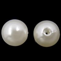 Kunststoffperlen, ABS Kunststoff, rund, weiß, 8mm, Bohrung:ca. 2mm, ca. 2000PCs/Tasche, verkauft von Tasche