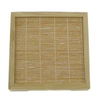 Vitrine, Bambus, Quadrat, natürlich, 108x108x21mm, 20PCs/Menge, verkauft von Menge