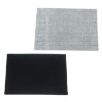 Baumwollsamt Ringständer, mit Baumwolle & Holz, Rechteck, keine, 350x240x25mm, 5PCs/Menge, verkauft von Menge
