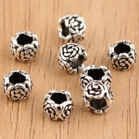 Bali Sterling Silber Perlen, Thailand, Blume, 6x3.8mm, Bohrung:ca. 2.5mm, 20PCs/Tasche, verkauft von Tasche
