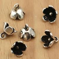 Bali Sterling Silber Anhänger, Thailand, Blume, 8x7.2mm, Bohrung:ca. 1.5mm, 10PCs/Tasche, verkauft von Tasche
