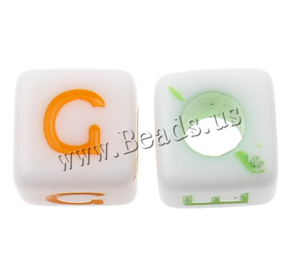 Buy Alphabet Acrylic Beads mixed & solid color 7x7mm Hole:Approx 3mm Approx 2000PCs/Bag Sold Bag