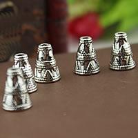 Zinklegierung Perlenkappe, antik silberfarben plattiert, frei von Nickel, Blei & Kadmium, 12mm, Bohrung:ca. 2mm, 1000PCs/Menge, verkauft von Menge