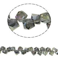 Klasse AA Kristallperlen, Kristall, Würfel, bunte Farbe plattiert, verschiedene Größen vorhanden & facettierte & AA grade crystal, Schawarz Diamond AB, Bohrung:ca. 2mm, verkauft per ca. 15.5 ZollInch Strang