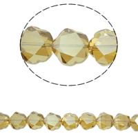 Klasse AA Kristallperlen, Kristall, Blume, bunte Farbe plattiert, verschiedene Größen vorhanden & facettierte & AA grade crystal, Topas, Bohrung:ca. 1mm, verkauft per ca. 15.5 ZollInch Strang