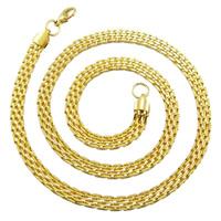 Titanstahl Kette Halskette, goldfarben plattiert, Maschen-Kette, 6x2.5mm, verkauft per ca. 21.5 ZollInch Strang