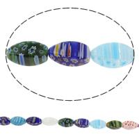 Millefiori Glasperlen, Glas Millefiori, Twist, handgemacht, verschiedene Größen vorhanden, gemischte Farben, Bohrung:ca. 1mm, Länge:ca. 14.5 ZollInch, verkauft von Tasche