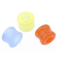 Katzenauge Großes Loch Perlen, Zylinder, gemischte Farben, 13x10mm, Bohrung:ca. 5mm, 10PCs/Tasche, verkauft von Tasche