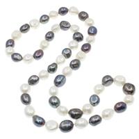 Natürliche Süßwasser Perle Halskette, Natürliche kultivierte Süßwasserperlen, Barock, zweifarbig, 12-13mm, verkauft per ca. 29 ZollInch Strang