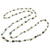 Süßwasserperlen Pullover Halskette, Natürliche kultivierte Süßwasserperlen, Barock, farbenfroh, 8-9mm, verkauft per ca. 47 ZollInch Strang