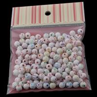 Volltonfarbe Acryl Perlen, gemischt, 6x6mm, 100x170mm, Bohrung:ca. 1mm, ca. 210PCs/Tasche, verkauft von Tasche