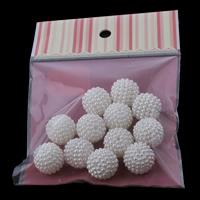 ABS-Kunststoff-Perlen, ABS Kunststoff, rund, Demontage und Montage & verschiedene Größen vorhanden & Nachahmung Perle, weiß, Bohrung:ca. 1mm, verkauft von Tasche