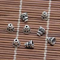 Bali Sterling Silber Perlenkappen, Thailand, Kegel, 5.50x5mm, Bohrung:ca. 1mm, 80PCs/Menge, verkauft von Menge