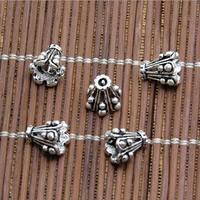 Bali Sterling Silber Perlenkappen, Thailand, Kegel, hohl, 8.50x7.50mm, Bohrung:ca. 2mm, 30PCs/Menge, verkauft von Menge