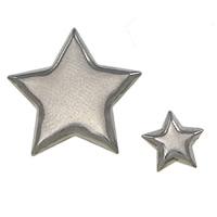 Edelstahl Cabochon Einstellung, 304 Edelstahl, Stern, verschiedene Größen vorhanden, originale Farbe, 2000PCs/Menge, verkauft von Menge