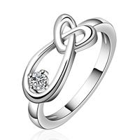 comeon® Finger-Ring, Messing, versilbert, verschiedene Größen vorhanden & mit kubischem Zirkonia, frei von Nickel, Blei & Kadmium, 16x7mm, verkauft von PC