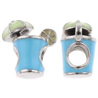 Edelstahl European Perlen, Tasse, ohne troll & Emaille, farbenfroh, 16x17x10mm, Bohrung:ca. 5mm, verkauft von PC