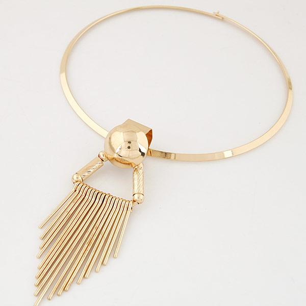 Mode-Fringe-Halskette, Zinklegierung, goldfarben plattiert, frei von Blei & Kadmium, 125mm, verkauft per ca. 15.4 ZollInch Strang