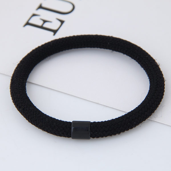Elastisches Haarband, Nylonschnur, mit Harz, schwarz, frei von Blei & Kadmium, 38mm, verkauft von PC