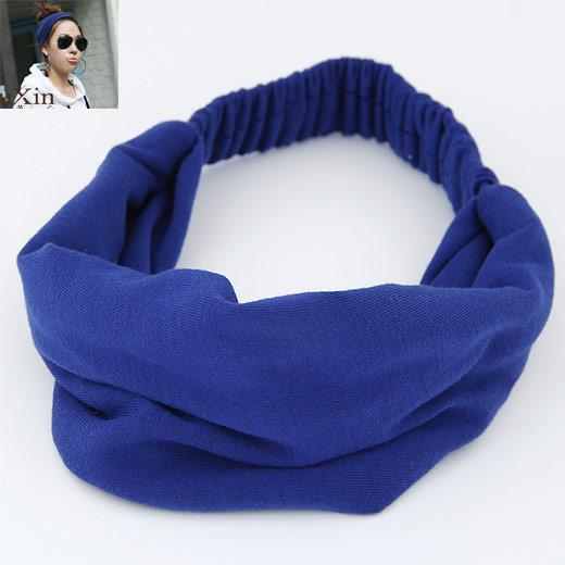 Stirnband, Baumwolle, blau, 240x175mm, verkauft von PC