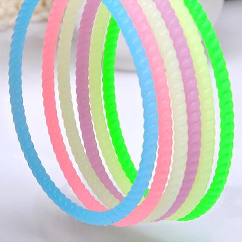Elastisches Haarband, Gummiband, auch als Wrap Armband getragen, 60mm, verkauft per ca. 7 ZollInch Strang