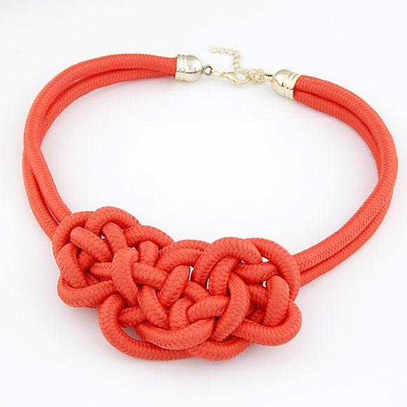 Nylonschnur Halskette, mit Zinklegierung, mit Verlängerungskettchen von 5cm, rot, 460x125x60mm, verkauft per ca. 18.11 ZollInch Strang