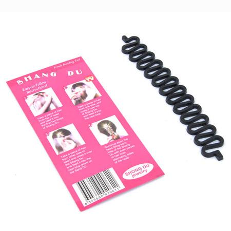Haarknoten Dutt Dreher, Kunststoff, schwarz, 180x26mm, verkauft von PC