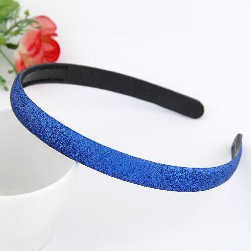 Haarreif, Kunststoff, buntes Pulver, blau, 130x13mm, verkauft von PC