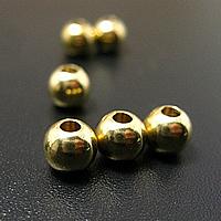 Messing Schmuckperlen, rund, verschiedene Größen vorhanden, originale Farbe, verkauft von PC