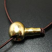 Messing 3-Loch-Guru-Perlen-Set, buddhistischer Schmuck, originale Farbe, frei von Nickel, Blei & Kadmium, 10mm, Bohrung:ca. 3mm, 100PCs/Menge, verkauft von Menge