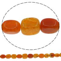 Natürliche Crackle Achat Perlen, Geknister Achat, Rechteck, rot, 10x14mm, Bohrung:ca. 1mm, Länge:ca. 14.5 ZollInch, 10SträngeStrang/Menge, ca. 25PCs/Strang, verkauft von Menge
