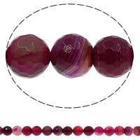 Natürliche Rosa Achat Perlen, rund, verschiedene Größen vorhanden & facettierte, Bohrung:ca. 1mm, Länge:ca. 15 ZollInch, verkauft von Menge