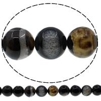 Natürliche Eis Quarz Achat Perlen, Eisquarz Achat, rund, verschiedene Größen vorhanden, Bohrung:ca. 1mm, Länge:ca. 15 ZollInch, verkauft von Menge
